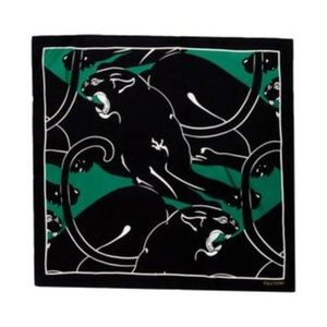 Valentino Black Green Panther Scarf NWT